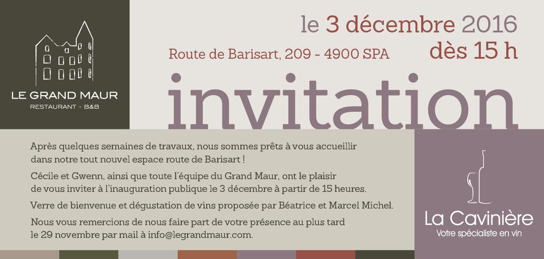 Invitation à l'inauguration publique